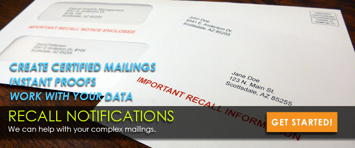 Recall Mailings