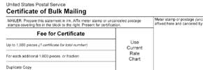 certificate of bulk mailing letterstream