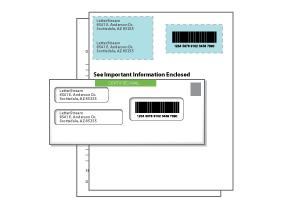 windowed certified letter