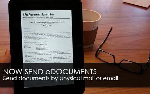 Documents sent by mail or email